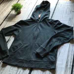Juicy Couture Black fully zip & hooded in Large